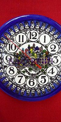 Handmade-Armenian-Ceramic-Jerusalem-Wall-Clock-From-Holy-Land-65-0