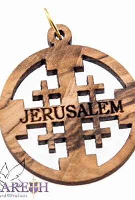 Handmade-Oval-Olive-Wood-Jerusalem-Cross-Carved-Christian-Pendant-Holy-Land-11-0