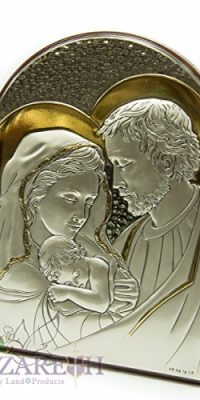 Holy-Family-Icon-Italian-Sterling-Silver-950-With-9K-Gold-From-Nazareth-6-0