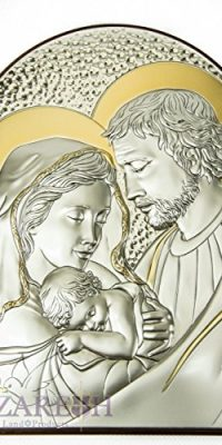 Holy-Family-Icon-Italian-Sterling-Silver-950-With-9K-Gold-From-Nazareth-91-0