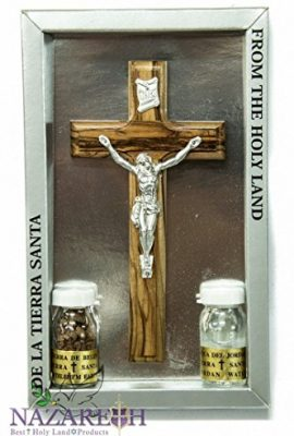 Holy-Land-Set-Kit-High-Quality-Olive-Wood-6-Cross-Holy-Water-Soil-Certificate-0