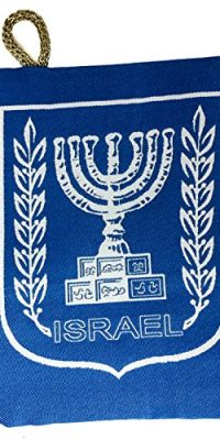 Israel-Menorah-Symbol-Jewish-Blue-Pouch-Bag-Banner-Case-From-Jerusalem-57-0