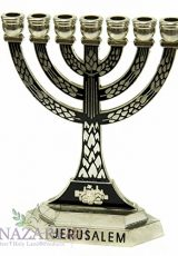 Jerusalem-Black-Enamel-Temple-Menorah-7-Branches-Menora-Silver-Metal-55-0