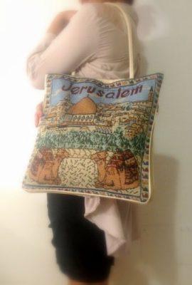 Jerusalem-Camel-Handmade-Hand-bag-Hand-Bag-Zipper-Cloth-Beautiful-Holy-Land-0-0
