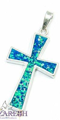 Jerusalem-Opal-Cross-Pendant-1-Sterling-Silver-925-Handmade-Holy-Land-0-0