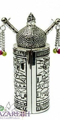 Jerusalem-Opening-Sefer-Torah-Scroll-Chumash-Pentateuch-Silver-Plated-Ornament-0-1