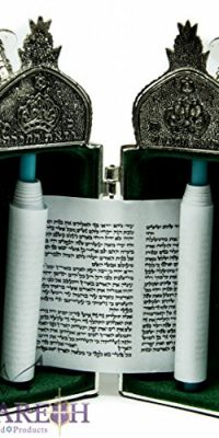 Jerusalem-Opening-Sefer-Torah-Scroll-Chumash-Pentateuch-Silver-Plated-Ornament-0-2