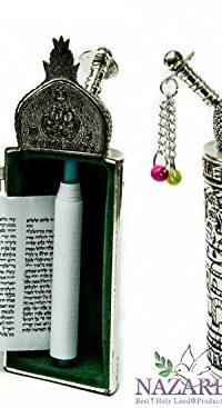 Jerusalem-Opening-Sefer-Torah-Scroll-Chumash-Pentateuch-Silver-Plated-Ornament-0