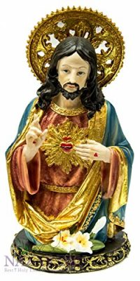 Jesus-Christ-Sacred-Heart-Figurine-Merciful-Love-Hand-Painted-From-Holy-Land-11-0