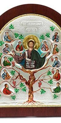 Jesus-Christ-TREE-OF-LIFE-Silver-Colorful-Icon-With-Saints-Portraits-Jerusalem-0-0