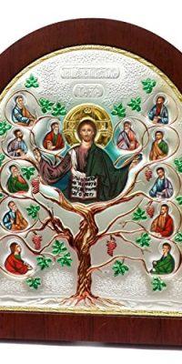 Jesus-Christ-TREE-OF-LIFE-Silver-Colorful-Icon-With-Saints-Portraits-Jerusalem-0