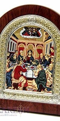 Jesus-Christ-The-Last-Supper-Christian-Icon-52-Silver-950-Frame-Holy-Land-0-0