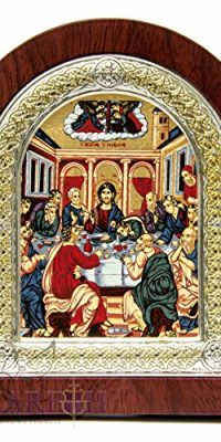 Jesus-Christ-The-Last-Supper-Christian-Icon-52-Silver-950-Frame-Holy-Land-0