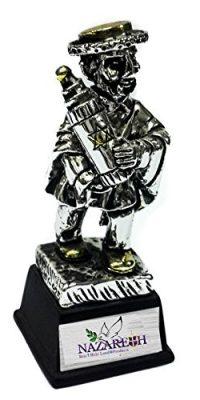 Jewish-Figurine-Hasidic-Hold-Torah-Souvenir-Silver-925-Gold-Plated-Jerusalem-0