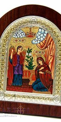 Mary-Gabriel-The-Annunciation-Christian-Icon-75-Silver-950-Frame-Holy-Land-0-0