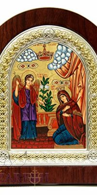 Mary-Gabriel-The-Annunciation-Christian-Icon-75-Silver-950-Frame-Holy-Land-0