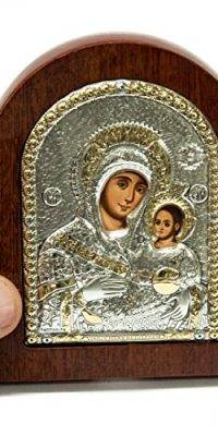 Miraculous-Jerusalem-Virgin-Mary-with-Baby-Jesus-Icon-39-Silver-925-Holy-Land-0