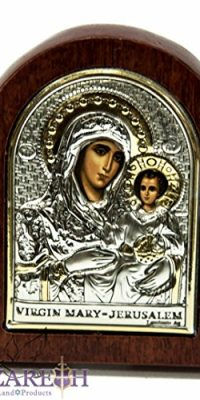 Miraculous-Virgin-Mary-with-Baby-Jesus-Icon-27-Silver-925-Madonna-Holy-Land-0