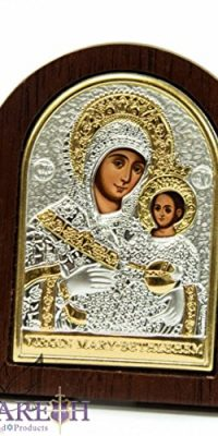Miraculous-Virgin-Mary-with-Baby-Jesus-Icon-33-Silver-925-Madonna-Holy-Land-0