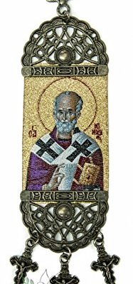 Orthodox-Russian-Saint-Nicholas-Hanging-Wall-Tapestry-Icon-Banner-Holy-Land-86-0