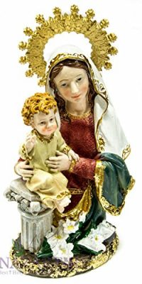 Our-Lady-Blessed-Virgin-Mary-Baby-Jesus-Figurine-Hand-Painted-Holy-Land-Statue-0-0