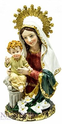 Our-Lady-Blessed-Virgin-Mary-Baby-Jesus-Figurine-Hand-Painted-Holy-Land-Statue-0