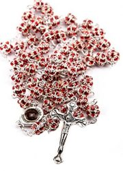 Red-Zircon-Crystals-Beads-Rosary-Catholic-Necklace-Holy-Soil-Medal-Crucifix-0-0