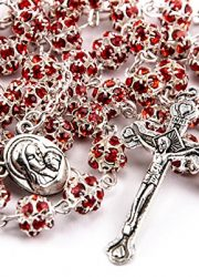 Red-Zircon-Crystals-Beads-Rosary-Catholic-Necklace-Holy-Soil-Medal-Crucifix-0-1
