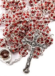 Red-Zircon-Crystals-Beads-Rosary-Catholic-Necklace-Holy-Soil-Medal-Crucifix-0-2