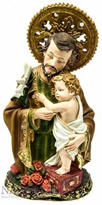 Saint-Joseph-and-Infant-Jesus-Figurine-Hand-Painted-From-Holy-Land-Statue-108-0