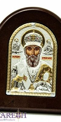 Saint-Nicholas-Byzantine-Icon-Sterling-Silver-950-Handmade-From-Holy-Land-35-0