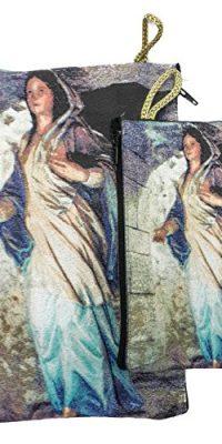 Set-Madonna-Virgin-Mary-Rosary-Icon-Pouch-Tapestry-Keepsake-Pray-Case-Jerusalem-0-0