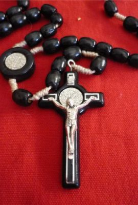 St-Benedict-Rosary-Necklace-Medal-19-Nr-Black-Olive-Wood-Beads-From-Holy-Land-0