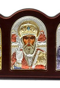 St-Nicholas-Virgin-Mary-Triptych-Silver-950-Icon-Jerusalem-Russian-Greek–0