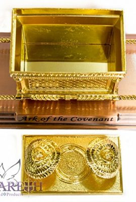 Statue-Copper-Ark-of-the-Covenant-71-Jewish-Testimony-Judaica-Israel-Gift-0-0