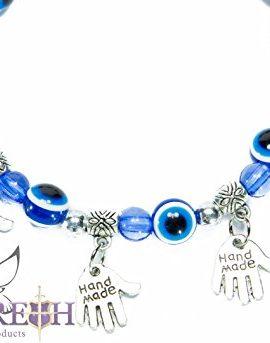 Stretchable-Hamsa-Fatima-Hand-Bracelet-with-Blue-Crystals-Glass-Evil-Eye-Beads-0-0