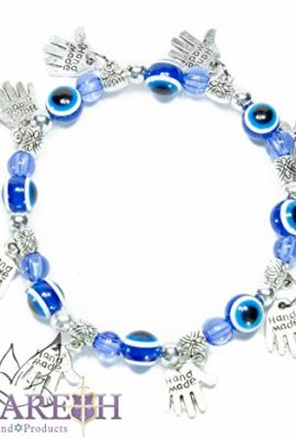 Stretchable-Hamsa-Fatima-Hand-Bracelet-with-Blue-Crystals-Glass-Evil-Eye-Beads-0