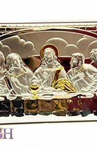 The-Last-Supper-of-Jesus-126-Sterling-Silver-950-Icon-Plaque-From-Holy-Land-0