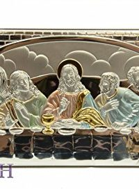 The-Last-Supper-of-Jesus-126-Sterling-Silver-950-Icon-Plaque-From-Jerusalem-0