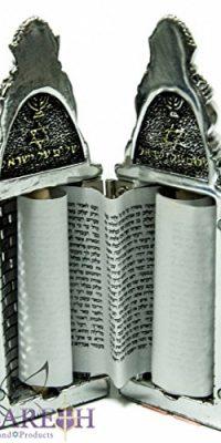Torah-Scroll-Chumash-Pentateuch-Silver-Plated-Opening-Judaica-Book-Jerusalem-0-1