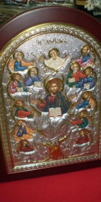 Tree-of-Life-Silver-925-Icon-Orthodox-with-Wood-Frame-From-Jerusalem-Big-0-1