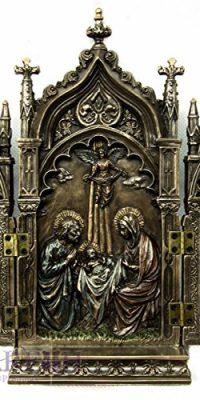 Unique-Chapel-Holy-Family-Triptych-Statue-Jesus-Nativity-Handmade-Jerusalem-85-0
