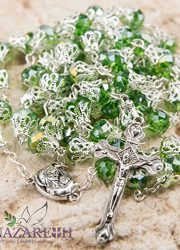 Unique-Green-Crystal-Beads-Catholic-Rosary-with-Holy-Soil-Medal-Crucifix-0-1