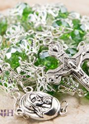 Unique-Green-Crystal-Beads-Catholic-Rosary-with-Holy-Soil-Medal-Crucifix-0