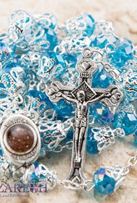 Unique-Light-Blue-Crystal-Beads-Catholic-Rosary-with-Holy-Soil-Medal-Crucifix-0-1