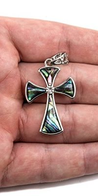 Unique-Shell-Cross-Pendant-Silver-Plated-With-Zircon-Crystals-Jerusalem-16-0-0