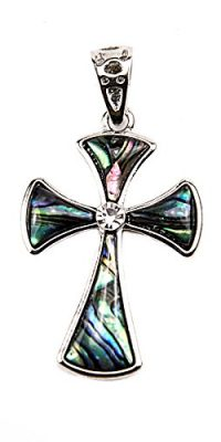 Unique-Shell-Cross-Pendant-Silver-Plated-With-Zircon-Crystals-Jerusalem-16-0