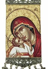 Virgin-Mary-Baby-Jesus-Hanging-Wall-Tapestry-Icon-Banner-Holy-Land-106-0