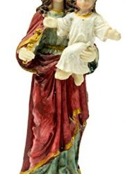 Virgin-Mary-Madonna-Baby-Jesus-Figure-Hand-Painted-Resin-Statue-Holy-Land-51-0-0