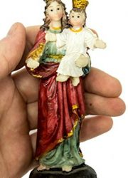 Virgin-Mary-Madonna-Baby-Jesus-Figure-Hand-Painted-Resin-Statue-Holy-Land-51-0-1